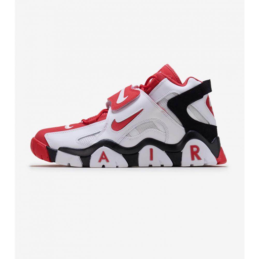 ナイキ Nike メンズ フィットネス・トレーニング シューズ・靴【Air Barrage Mid】White/Red/Black