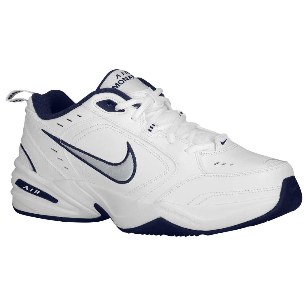 ナイキ メンズ フィットネス・トレーニング シューズ・靴【Nike Air Monarch IV】White/Midnight Navy/Metallic Silver