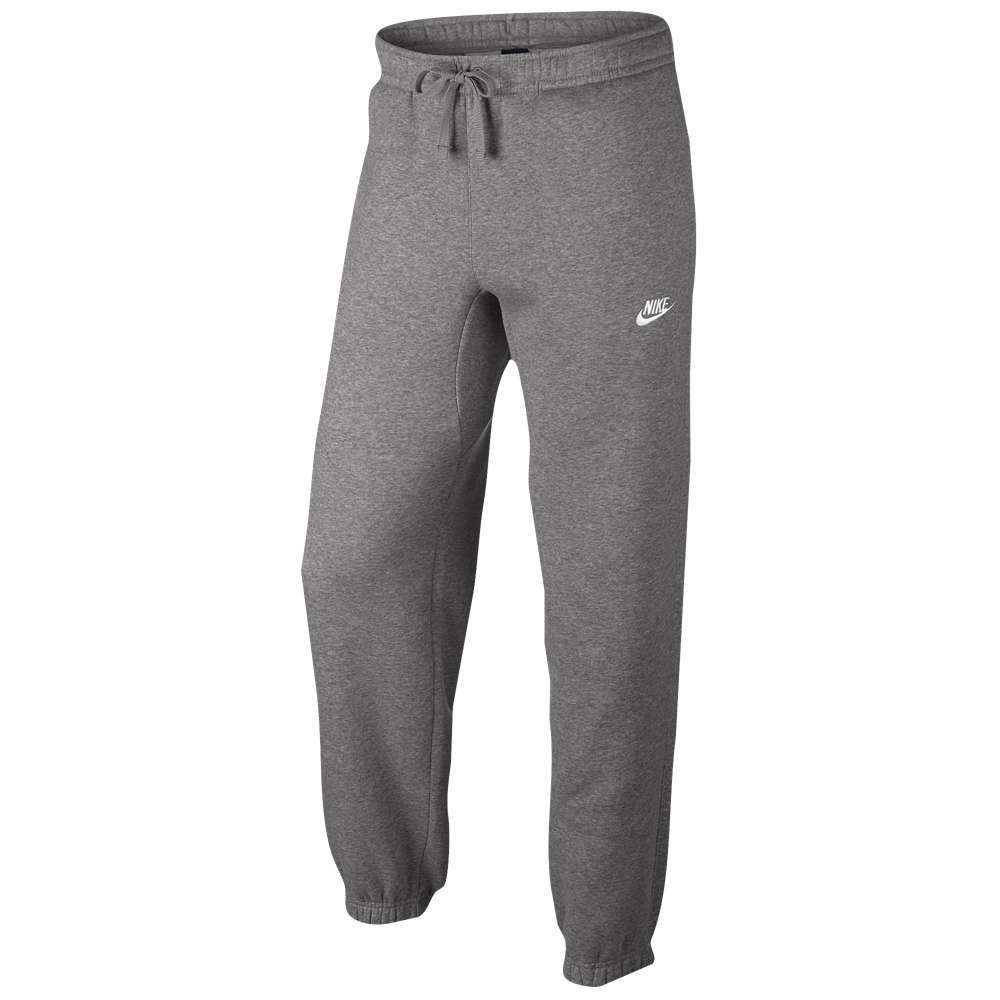 ナイキ メンズ ボトムス・パンツ スウェット・ジャージ【Nike Club Cuff Fleece Pants】Dark Grey Heather/White