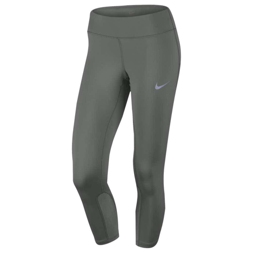 ナイキ レディース ランニング・ウォーキング ボトムス・パンツ【Nike Dri-FIT Power Epic Run Crop】Tumbled Grey/Reflective Silver