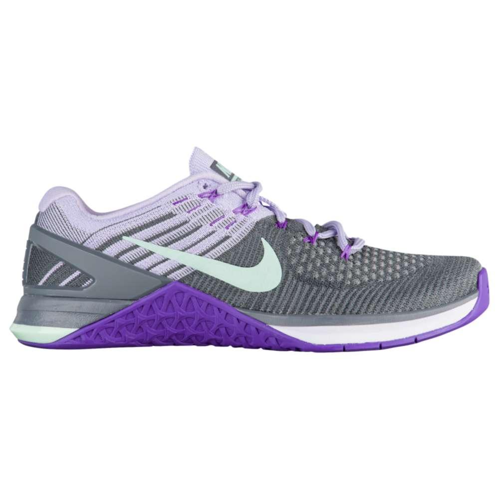 ナイキ レディース フィットネス・トレーニング シューズ・靴【Nike Metcon DSX Flyknit】Dark Grey/Artic Green/Hyper Grape/Hydrangeas