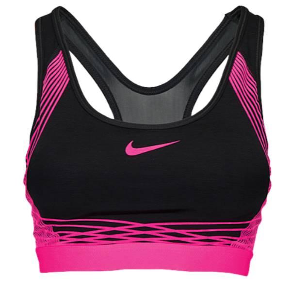 ナイキ レディース インナー・下着 スポーツブラ【Nike Pro Hyper Classic Padded Bra】Black/Hyper Pink