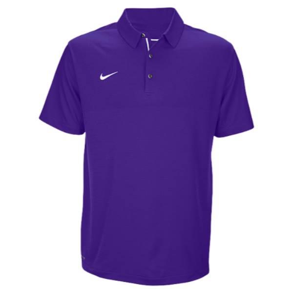 ナイキ メンズ トップス ポロシャツ【Nike Team Sideline Dry Elite Polo】Court Purple/White