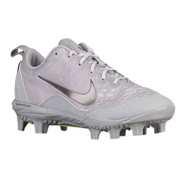 ナイキ レディース 野球 シューズ・靴【Nike Hyperdiamond 2 Pro MCS】Wolf Grey/Metallic Dark Grey/Wolf Grey