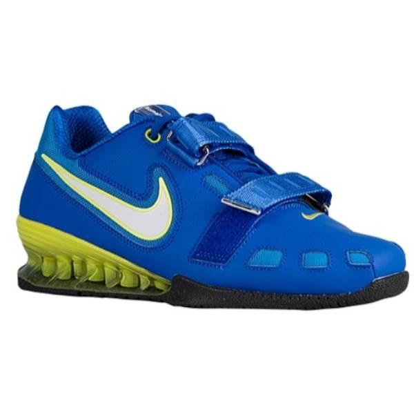 ナイキ メンズ フィットネス・トレーニング シューズ・靴【Nike Romaleos II Power Lifting】Hyper Cobalt/White/Electric Yellow