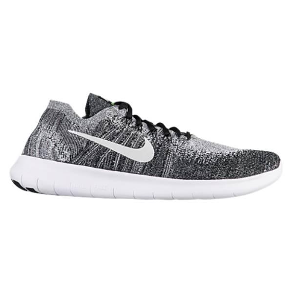 ナイキ メンズ ランニング・ウォーキング シューズ・靴【Nike Free RN Flyknit 2017】Black/White/Volt