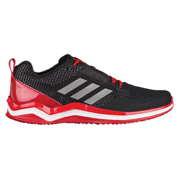 アディダス メンズ 野球 シューズ・靴【adidas Speed Trainer 3.0】Black/Iron Metallic/Power Red