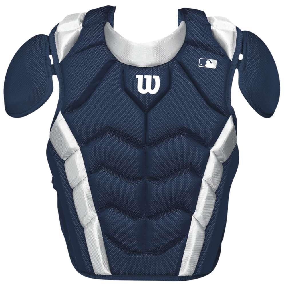 ウィルソン ユニセックス 野球 プロテクター【Wilson Pro Stock Chest Protector】Navy