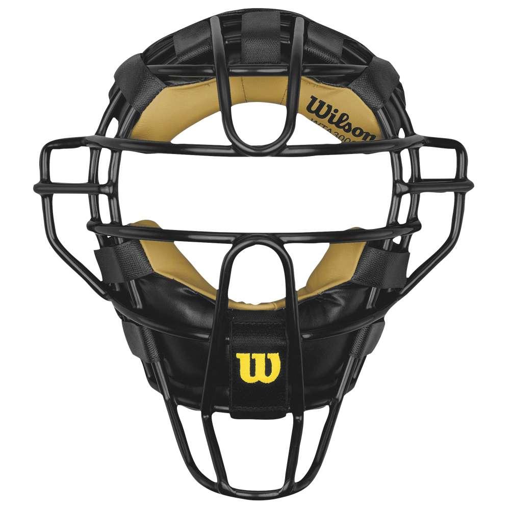 ウィルソン ユニセックス 野球 プロテクター【Wilson Dyna-Lite Steel Pro Umpire Mask】Black