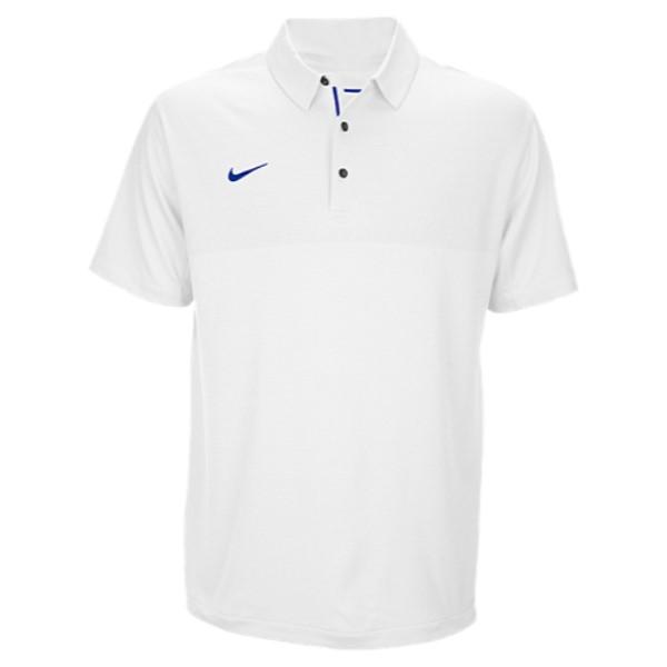 ナイキ メンズ トップス ポロシャツ【Nike Team Sideline Dry Elite Polo】White/Game Royal