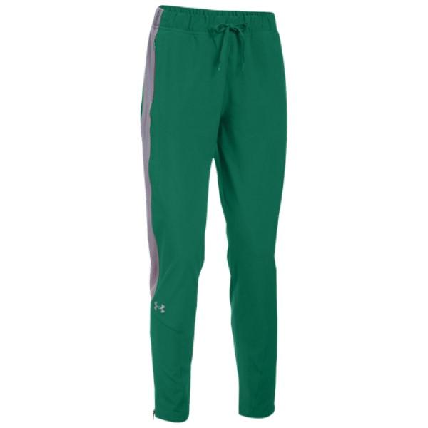 アンダーアーマー レディース フィットネス・トレーニング ボトムス・パンツ【Under Armour Team Squad Woven Warm Up Pants】Green/Steel