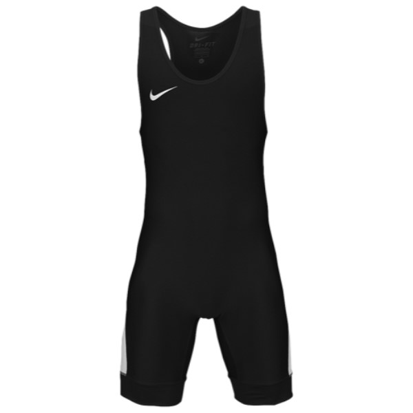 ナイキ メンズ レスリング トップス【Nike Grappler Elite Wrestling Singlet】Black/White