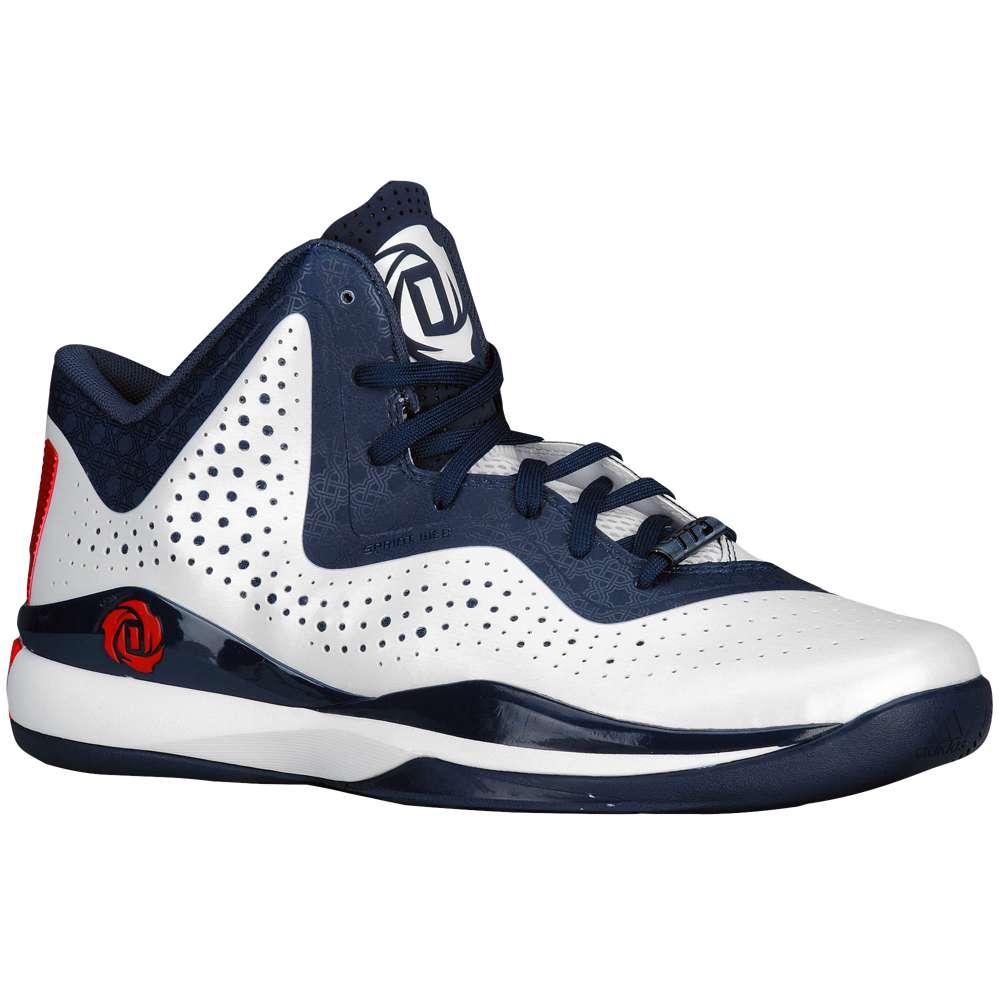 アディダス メンズ バスケットボール シューズ・靴【adidas D Rose 773 III】White/Scarlet/Navy