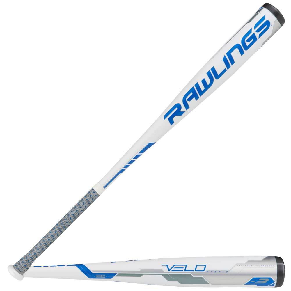 ローリングス メンズ 野球【Rawlings Velo BBCOR Baseball Bat】White/Blue