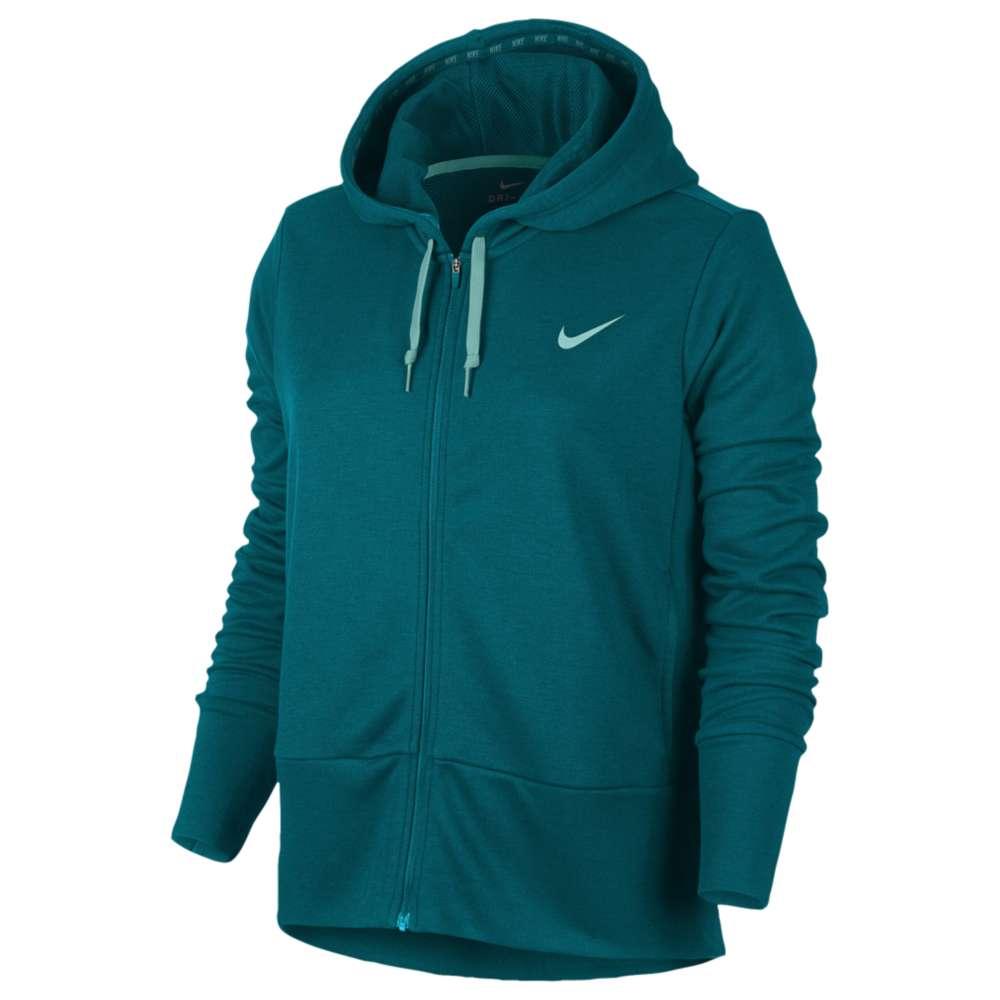 ナイキ レディース フィットネス・トレーニング トップス【Nike Lightweight Full Zip Sporty Hoodie】Blustery/Light Aqua