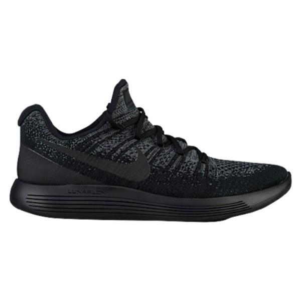 ナイキ メンズ ランニング・ウォーキング シューズ・靴【Nike LunarEpic Low Flyknit 2】Black/Dark Grey/Racer Blue