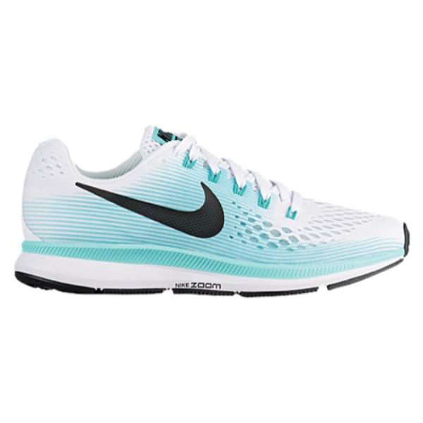 ナイキ レディース ランニング・ウォーキング シューズ・靴【Nike Air Zoom Pegasus 34】White/Black/Aurora Green
