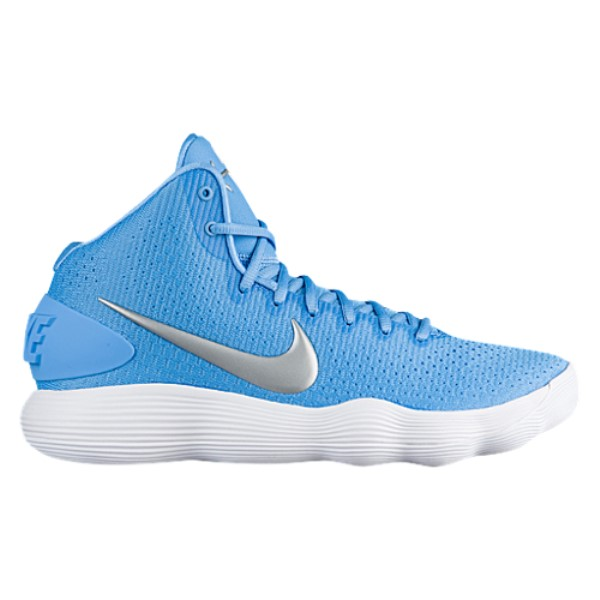 ナイキ メンズ バスケットボール シューズ・靴【Nike React Hyperdunk 2017 Mid】University Blue/Metallic Silver/White