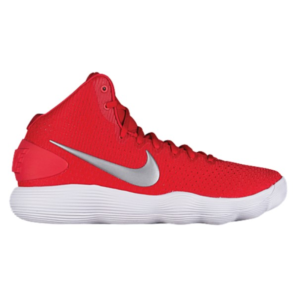 ナイキ メンズ バスケットボール シューズ・靴【Nike React Hyperdunk 2017 Mid】University Red/Metallic Silver/White