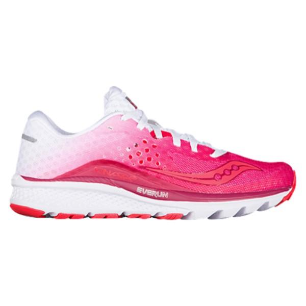 サッカニー レディース ランニング・ウォーキング シューズ・靴【Saucony Kinvara 8】Berry/White