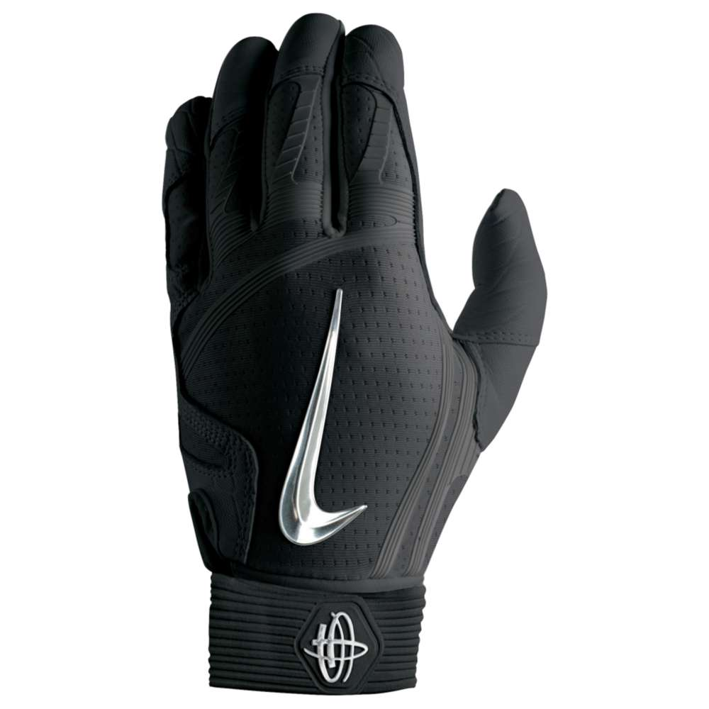 ナイキ メンズ 野球 グローブ【Nike Huarache Elite Batting Gloves】Black/Chrome