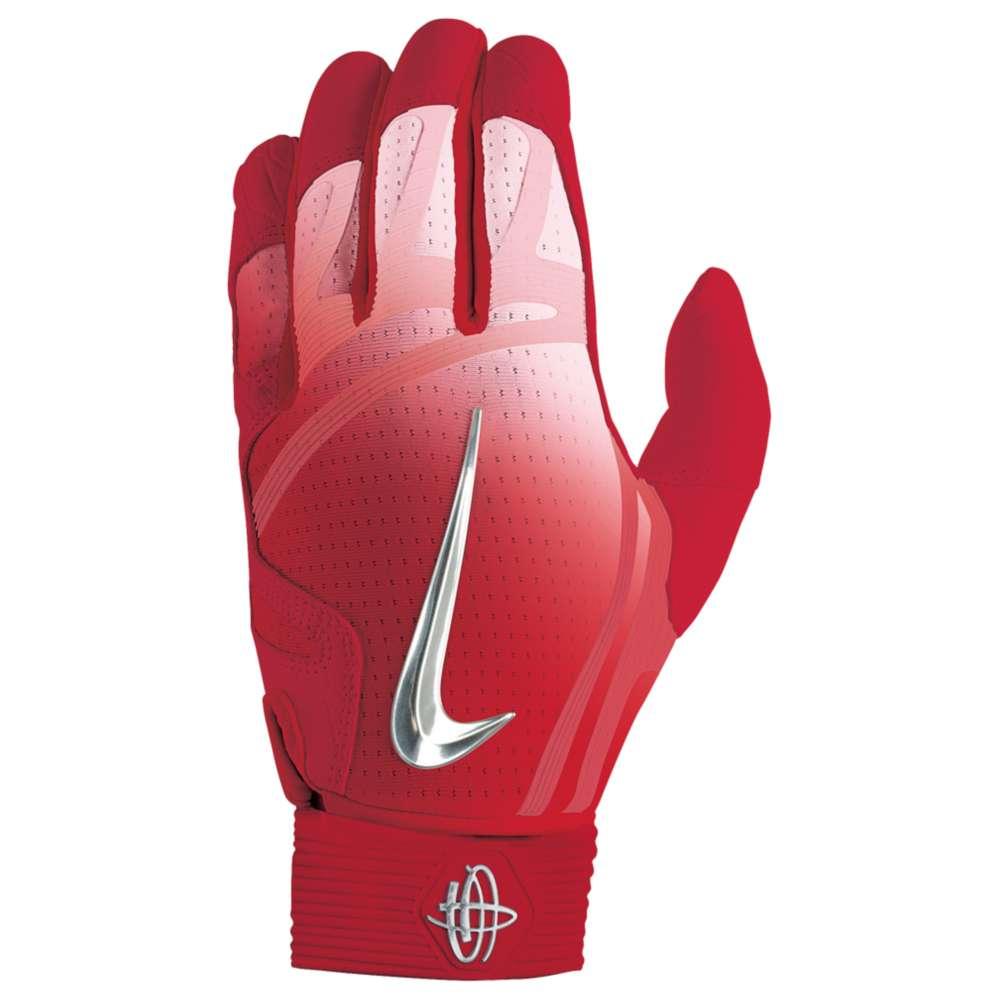 ナイキ メンズ 野球 グローブ【Nike Huarache Elite Batting Gloves】University Red/Chrome/Hot Punch
