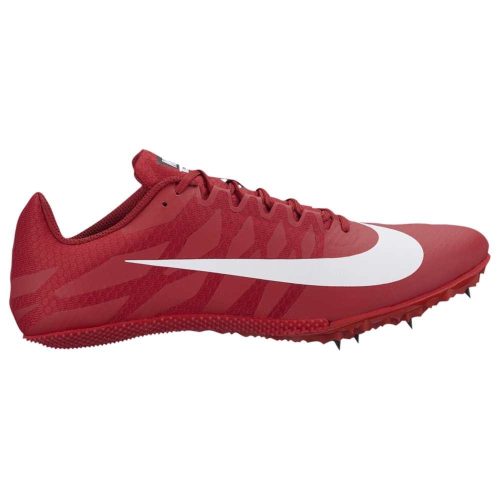 ナイキ メンズ 陸上 シューズ・靴【Nike Zoom Rival S 9】University Red/White/Tough Red/Black