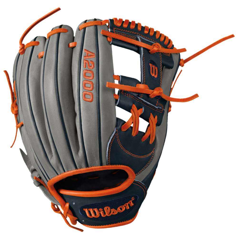 ウィルソン メンズ 野球 グローブ【Wilson A2000 1787 BBG H-Web Fielder's Glove】Grey/Navy/Orange