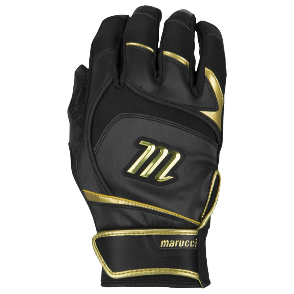 マルッチ メンズ 野球 グローブ【Marucci Pittards Signature Batting Gloves】Black/Gold