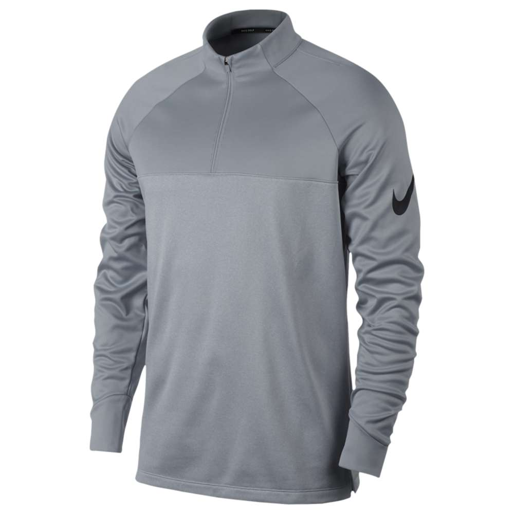 ナイキ メンズ ゴルフ トップス【Nike Golf Therma Fit 1/2 Zip Cover Up】Wolf Grey/Dark Grey/Heather/White