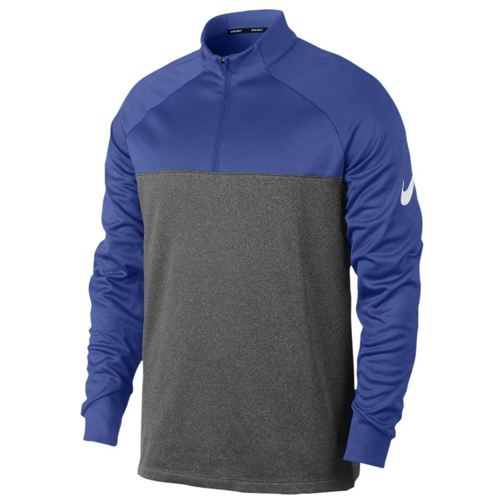 ナイキ メンズ ゴルフ トップス【Nike Golf Therma Fit 1/2 Zip Cover Up】Game Royal/Dark Grey/Heather/White