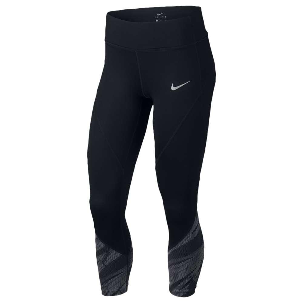 ナイキ レディース ランニング・ウォーキング ボトムス・パンツ【Nike Dri-FIT Racer Crop】Black/Anthracite