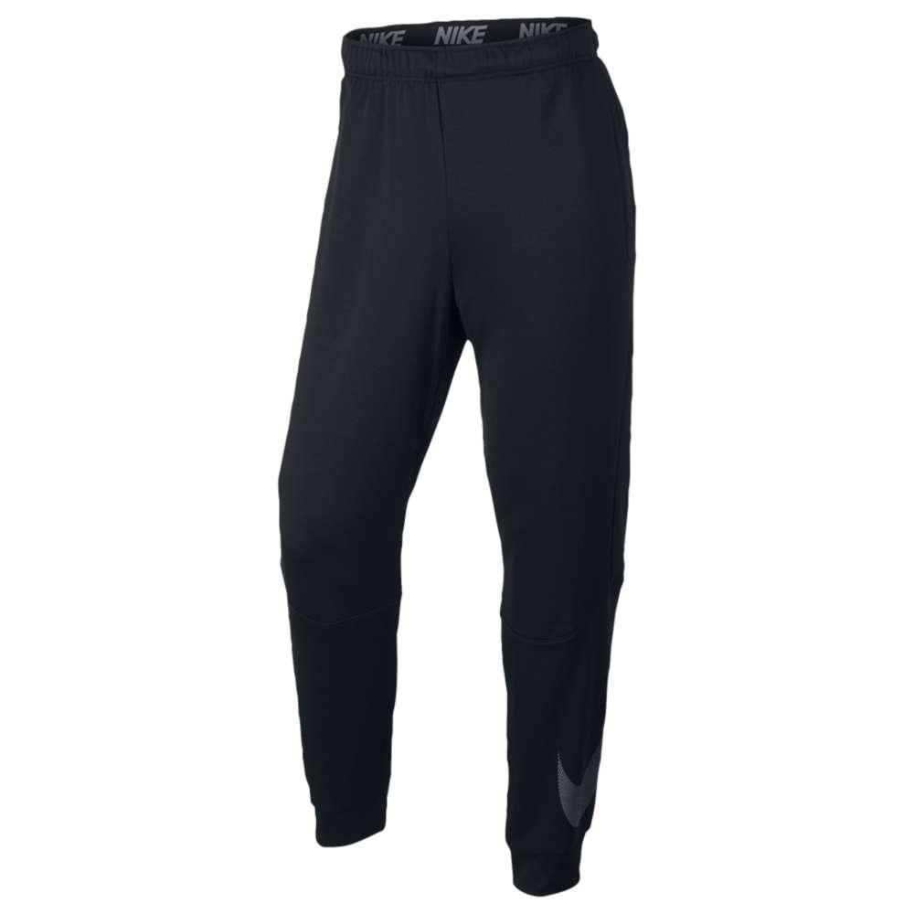 ナイキ メンズ フィットネス・トレーニング ボトムス・パンツ【Nike Lightweight Fleece Taper Logo Pants】Black/Cool Grey
