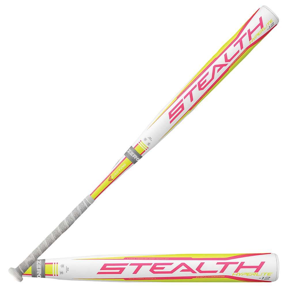 イーストン レディース 野球 バット【Easton Stealth Hyperlite Fastpitch Bat】White/Grey/Pink