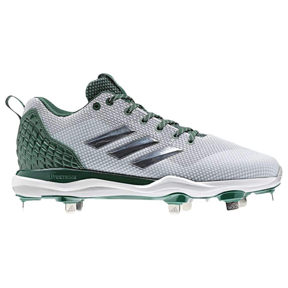 アディダス メンズ 野球 シューズ・靴【adidas Poweralley 5】White/Dark Green