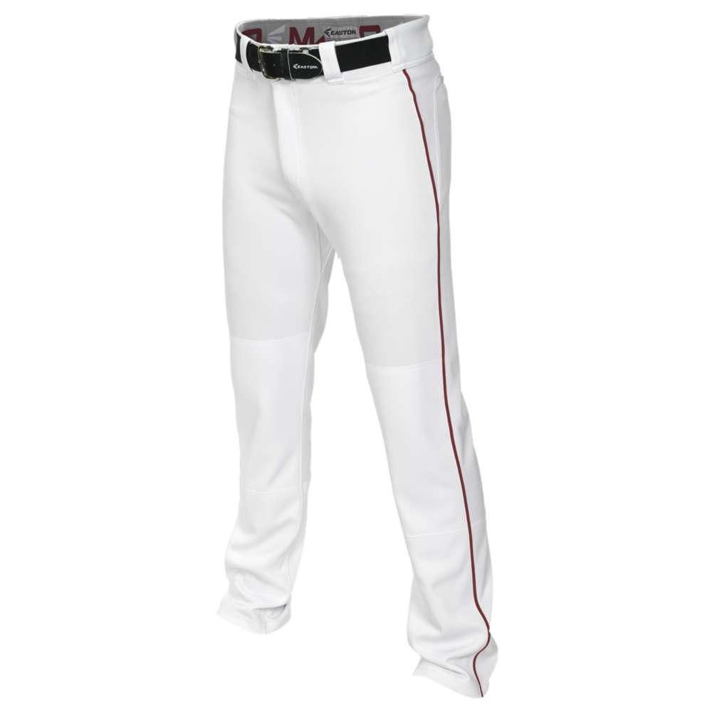 イーストン メンズ 野球 ボトムス・パンツ【Easton Mako 2 Piped Baseball Pants】White/Maroon