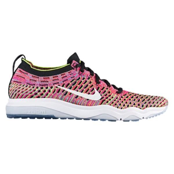 ナイキ レディース フィットネス・トレーニング シューズ・靴【Nike Air Zoom Fearless Flyknit】Black/White/Volt/Deadly Pink/Chlorine Blue