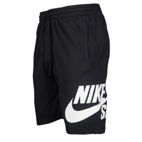 ナイキ メンズ フィットネス・トレーニング ボトムス・パンツ【Nike SB Dri-Fit Sunday Shorts】Black/White