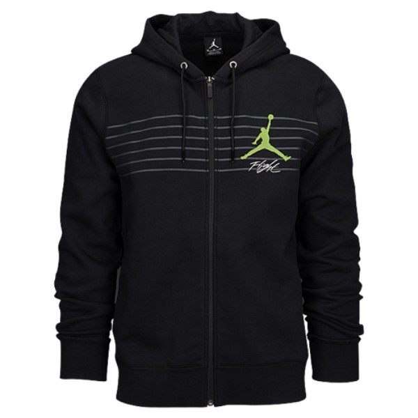 ナイキ ジョーダン メンズ トップス パーカー【Jordan Flight Graphic Fleece Full Zip Hoodie】Black/Dark Grey/Reflective Silver