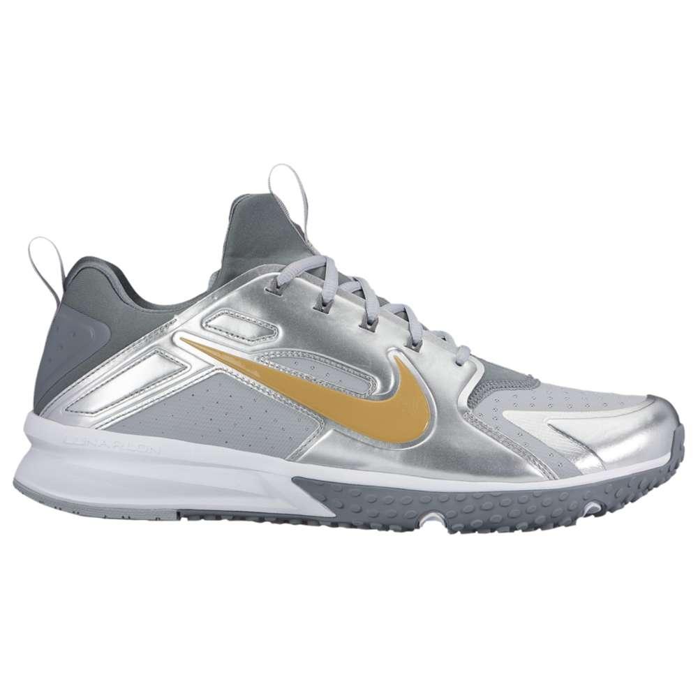 ナイキ メンズ 野球 シューズ・靴【Nike Alpha Huarache Turf】Wolf Grey/Metallic Gold/White/Cool Grey