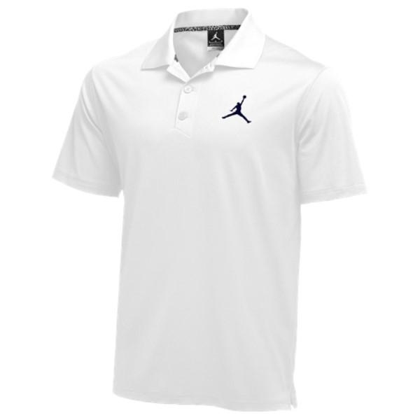 ナイキ ジョーダン メンズ トップス ポロシャツ【Jordan Team Polo】White/Navy