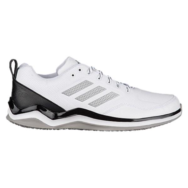 アディダス メンズ 野球 シューズ・靴【adidas Speed Trainer 3.0】White/Silver Metallic/Black