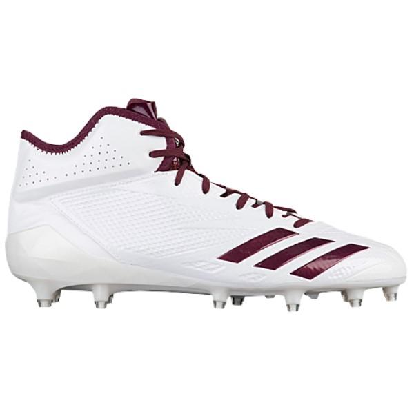 アディダス メンズ アメリカンフットボール シューズ・靴【adidas adiZero 5-Star 6.0 Mid】White/Maroon/Maroon