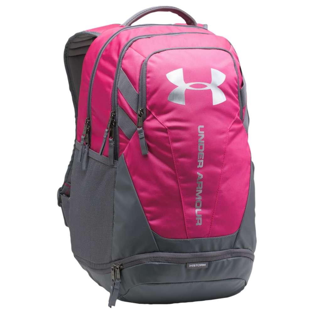 アンダーアーマー ユニセックス バッグ バックパック・リュック【Hustle Backpack 3.0】Tropic Pink/Graphite/Silver