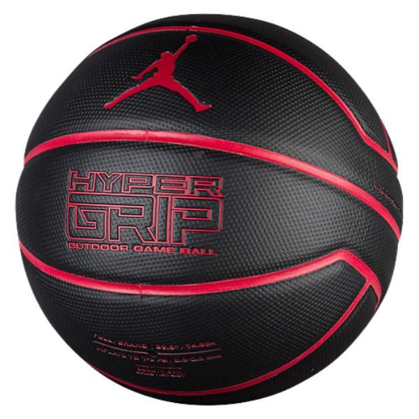 ナイキ ジョーダン ユニセックス バスケットボール ボール【Hyper Grip Basketball】Black/Gym Red/Gym Red