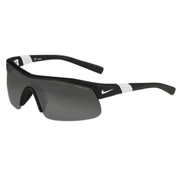 ナイキ ユニセックス スポーツサングラス【Show X1 Sunglasses】Matte Black/White/Grey Silver Flash/Outdoor Tint