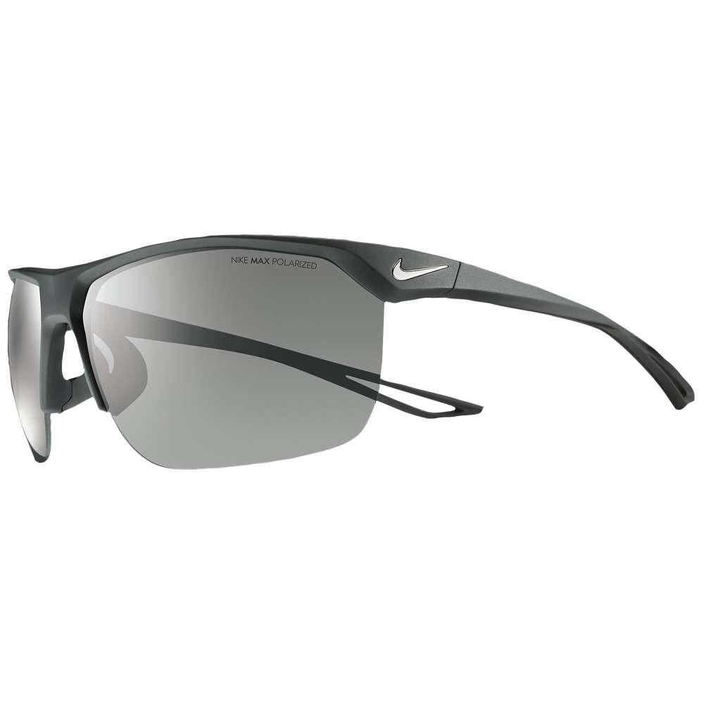 ナイキ ユニセックス スポーツサングラス【Trainer Sunglasses】Matte Black/Silver/Grey Polarized Lens