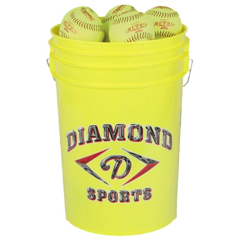 ダイアモンド ユニセックス 野球 ボール【12RFPSC .47 ASA Bucket of Softballs】