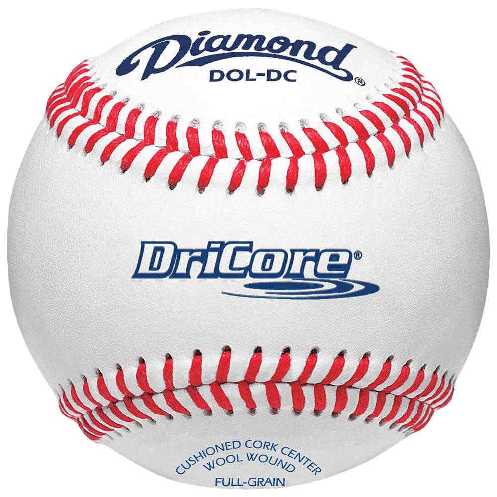 ダイアモンド ユニセックス 野球 ボール【Dri-Core Practice Baseball】White/Red