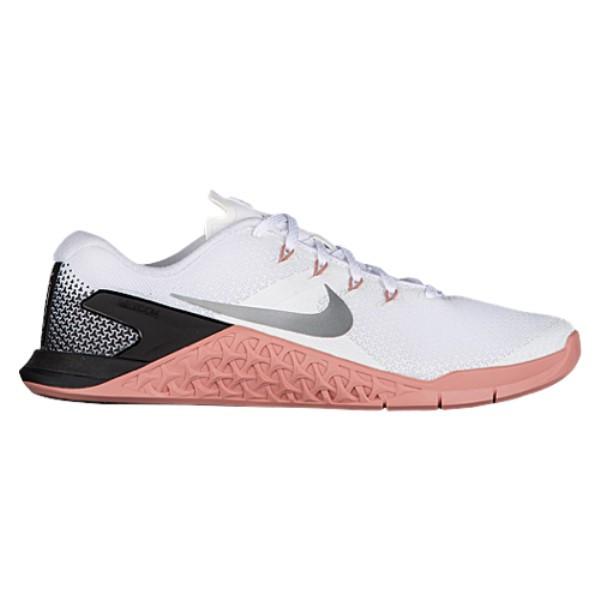 ナイキ レディース フィットネス・トレーニング シューズ・靴【Metcon 4】White/Metallic Silver/Rust Pink/Black